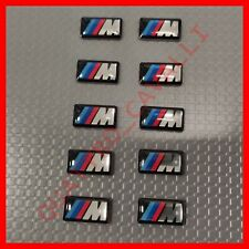 Logo Emblema Adesivo BMW m Sport SET DA 10 PZ cerchi gomme volante interni ruote