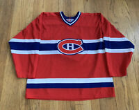 Montreal Canadians Vintage 90's Authentic CCM Hockey Jersey Mint Size Large RARE