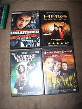 Hero, House of Flying Daggers, Vampire Effect, Unleashed DVDs IN EXCELLENT SHAPE
