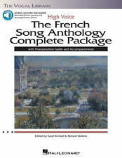 The French Song Anthology - High Voice Book Pronunciation and Audio 000116917