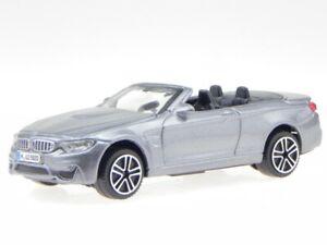 BMW M4 convertible 2014 grey diecast model car 30298 Bburago 1/43