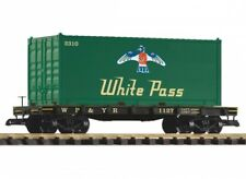 Piko G-Flachwagen with Container White Pass Gauge G