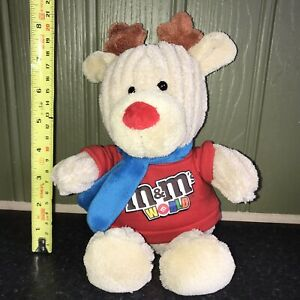 M&Ms Reindeer Branded Soft Toy M&M World Chocolate Candy - Christmas / Xmas Gift