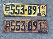 1939 Matched pair Minnesota  license plates