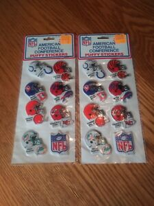 Lot of 2 Vintage NFL Puffy Stickers American Football Conference, NIP