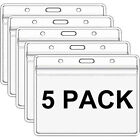5 Pack Clear Vaccination Card Protector 4x3 Vaccine Record Holder Badge Sleeve