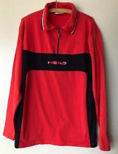 HEAD Sport Herren Pullover Skibekleidung rot  Größe 50 + 52    Vintage