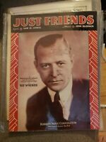 Vintage 1931 Sheet Music Just Friends Red McKenzie FAST SHIP FROM USA