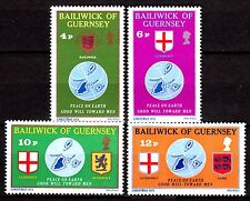 Guernsey - 1975 Christmas / Peace / Coats of Arms - Mi. 125-28 MNH