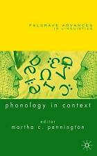 Phonology in Context (Palgrave Advances in Language and Linguistics), , Excellen
