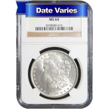 1878 to 1904 $1 Morgan Silver Dollar NGC MS64 Random Year