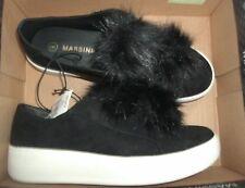 Ladies Women's Girls Pom Pom Suede Loafers Platform Flat Trainers Shoes Sz 8 M