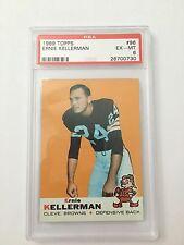 1969 Topps Football Ernie Kellerman #96 PSA Graded 6 EX-MT