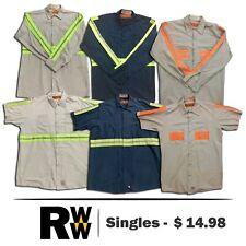 181421b3ffc653 Red Kap Reflective Hi Vis Work Shirts 2 Pocket Short & Long Sleeve Uniform