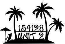 House Number Plaque, Metal Sign, Condo, Address Sign, Beach #2