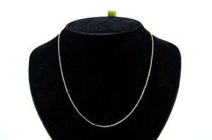 """18"""" 14K Yellow Gold Overlay 925 Sterling Silver Super Sparkly Rolo Chain"""
