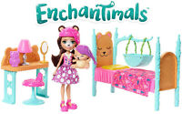 Enchantimals Dreamy Bedroom Playset + Bren Bear Doll & Snore Figure - Girls 4+