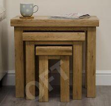 Montero nest of three coffee tables set solid oak living room furniture