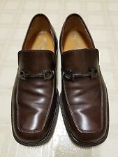 Men's Ferragamo dress shoes, brown leather, Size 7 Italy. Great Condition.
