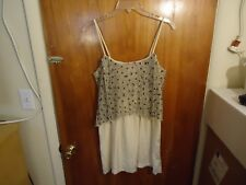 Womens / Girls Silence + Noise Size M Beige Beaded Spaghetti Strap Dress