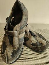 Diesel Men's Trainers Vintage Distressed Cubatao UK 12 Black Leather Olive Suede
