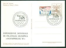 Vatican City Philatelic Show Cancelled Postcard: Olymphilex '87