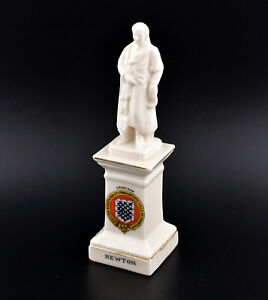 Willow Art Crested China Sir Isaac Newton Statue * Grantham *
