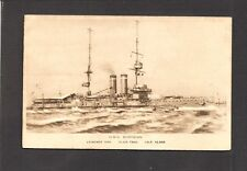 BAS-RELIEF POSTCARD: H.M.S. DOMINION - WORLD WAR 1 BRITISH ROYAL NAVY BATTLESHIP