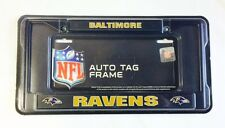 Baltimore Ravens Chrome Metal License Plate Frame Auto Tag Holder BLACK