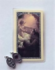 ST. ANTHONY 3RD CLASS RELIC METAL CHARM  LAMINATED PRAYER CARD BLESSED LOST