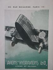 1931 PUB LIORE OLIVIER LeO AVION THE GOLDEN RAY AIRCRAFT / BLERIOT HALLO  AD