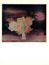 """1967 Vintage PAUL KLEE """"BEFORE THE SNOW"""" GORGEOUS COLOR offset Lithograph"""