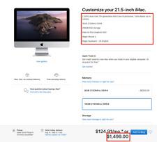 """New 2017 iMac 21.5"""" Retina 4K Intel Core i5 2.3 GHz 16GB 256GB SSD MNDY2LL/A BTO"""