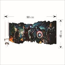 HOME AVENGERS 3D wallpaper wall sticker mural decor Iron Man Thor Hulk Marvel