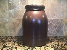 Vintage BROWN Glaze Stoneware Crock Canning Jar