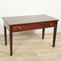 Tavolino Tavolo antico da salotto soggiorno in legno rettangolare con cassetto