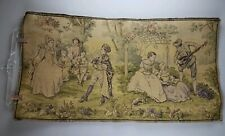 Antique Old World Victorian Garden Party Wall Table Tapestry