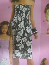 McCall's 5639 Pre-Shirred Strapless Dress or Top Sewing Pattern Women Uncut