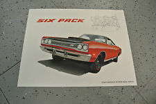 NOS 1969 Dodge Super Bee 440 Six Pack Art Picture Print Dealer Advertising MOPAR