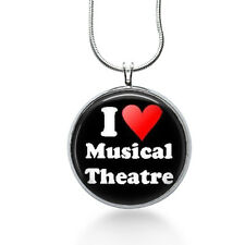 Musical theater Necklace-I love musical theater,Broadway Musical,musicals,acting