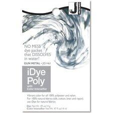 iDye POLY Gun Metal - For Polyester & Nylon Fabrics-  No Mess Packets 14g NEW