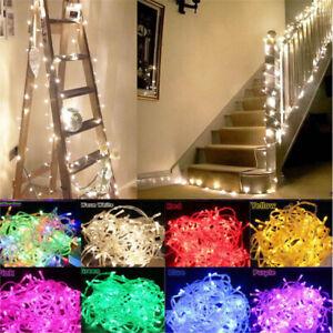Battery Operated String Fairy Lights 20-80 LED Waterproof Bedroom Indoor Outdoor
