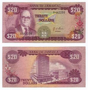 Jamaica, 20 Dollars 1960 (1976), Pick 63, F