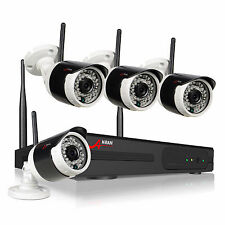 Anran 4-Channel 720p Wireless IP Camera Security System with 1080p NVR