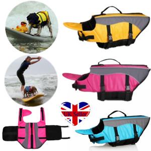 Pet Dog Life Jacket Swim Float Vest Reflective Adjustable Buoyancy Aid Preserver