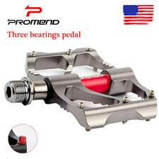 PROMEND MTB Bike 3 Bearings Chrome Pedal Ultralight Non-slip 9/16 inch Pedals US
