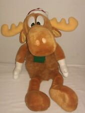 "Bullwinkle Moose Christmas 24"" Plush Toy, Vintage 1996"