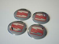4x Seat Wheel Center Cap Badge 56mm Ibiza Leon Cupra Alhambra Toledo Altea