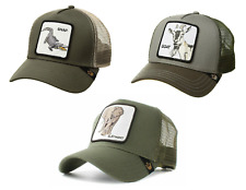 Goorin Bros Animal Farm Snapback Trucker Hat Cap ( Olive Snap, Elephant, Goat )