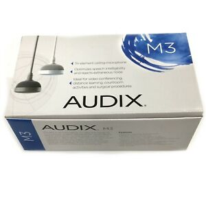 New Audix M3 M3G Tri-Element Ceiling Hanging Microphone Gray